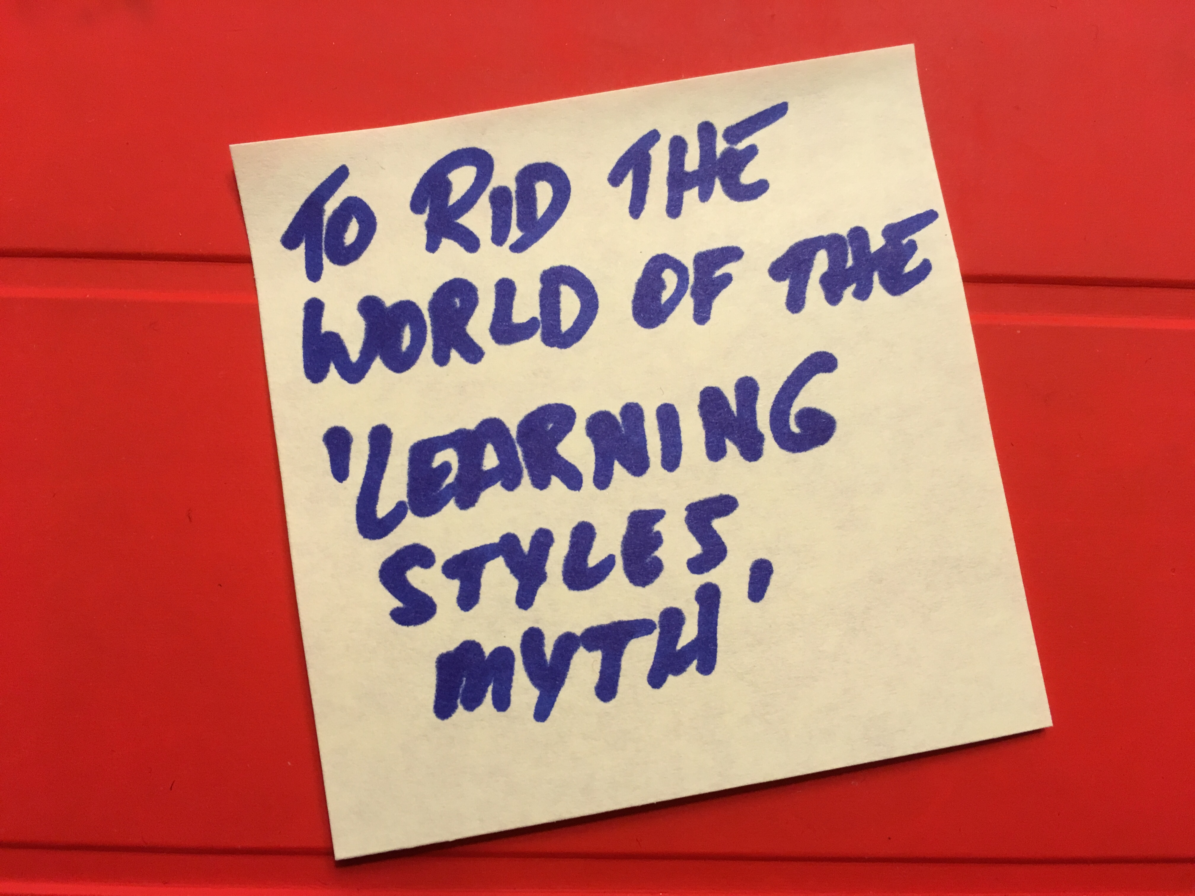 Say no to learning styles
